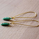 Seafoam Navette Earrings