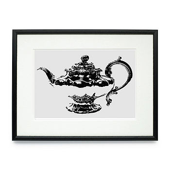 Teapot Framed & Signed Print