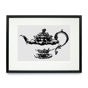 Teapot Framed & Signed Print - pictures, prints & paintings