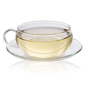 Glass Tea Cup and Saucer