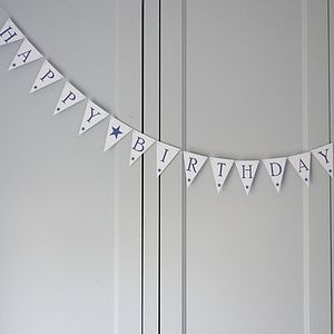 Happy Birthday Bunting Small - outdoor decorations