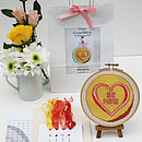 'Be Mine' Heart Candy Cross Stitch Kit
