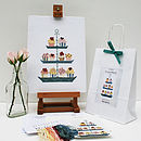 contents of CupCake kit with finished sampler