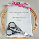 "4"" Hoop and Scissors in Deluxe Kit"