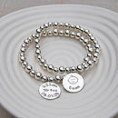Personalised Silver New Mum Bracelet