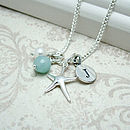 Personalised Silver Starfish Necklace