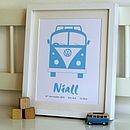 Children's Room Camper Van Personalised Print