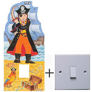Pirate And Boys Light Switch Cover - lighting