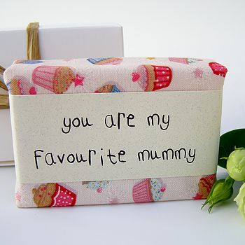 Mother's Day Cupcake Fabric Wrapped Soap