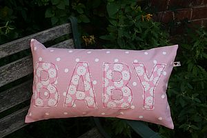 'Baby' Appliqued Cushion