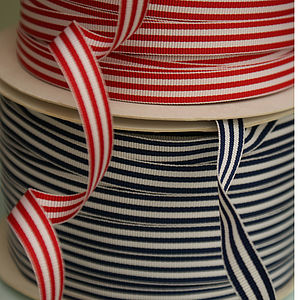 Grosgrain Ticking Stripe Ribbon - cards & wrap