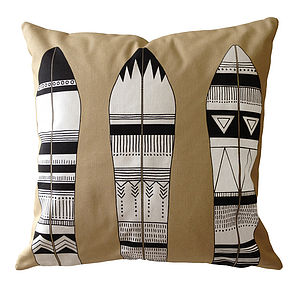 Feather Print Cushion - cushions