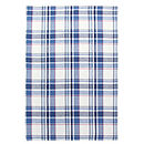 Blue Check Cotton Table Runner