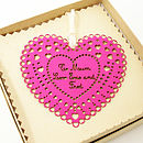 Personalised Paper Heart Keepsake