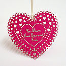 Personalised Paper Heart Keepsake - red