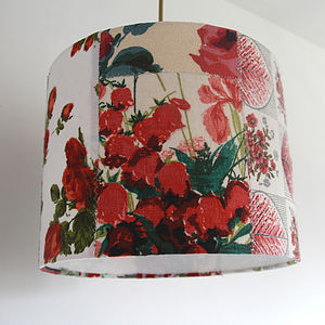 MintRose Patchwork Lampshade - dining room