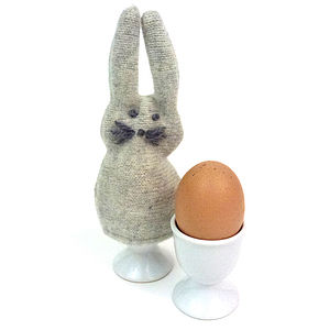 Knitted Rabbit Or Chick Egg Cosy - tableware