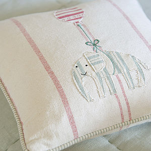 Embroidered Animal Cushion - cushions