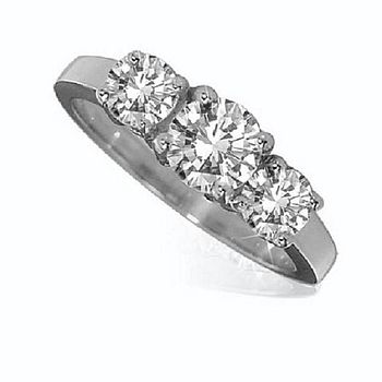 White Gold Diamond Trilogy Ring
