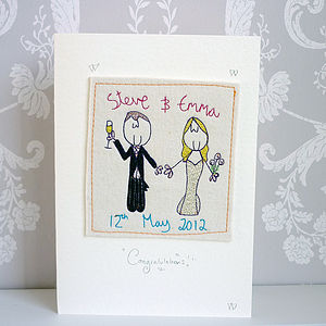 Personalised Wedding Card - wedding, engagement & anniversary cards