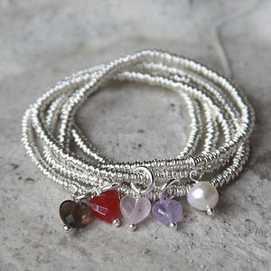 Girl's Mini Sterling Silver Sweetie Charm Bracelet