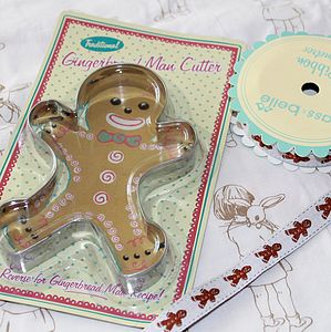 Gingerbread Ribbon And Cookie Cutter Set - shop by price