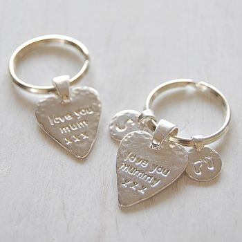 'Love You...' Heart Key Ring