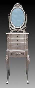 Silver Dressing Table