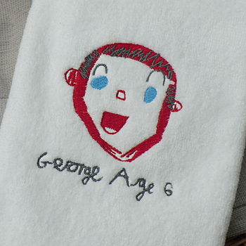 Personalised Towel With Your Child's Drawing