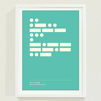 Personalised Secret Message Morse Code Print