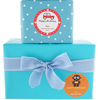 Boy's Personalised Gift Stickers