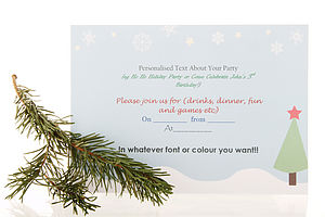 Christmas Snowflakes Printable Stationery