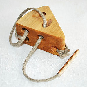 Mouse & Cheese Montessori Lacing Toy - wooden toys
