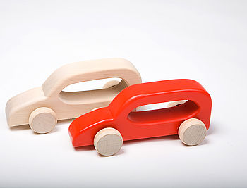 Push Along Wooden Red Car