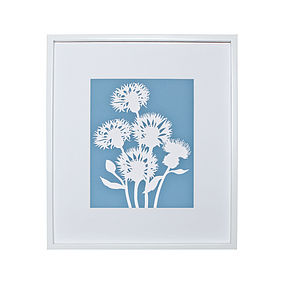 Cornflower Botanical Mounted Fine Art Print