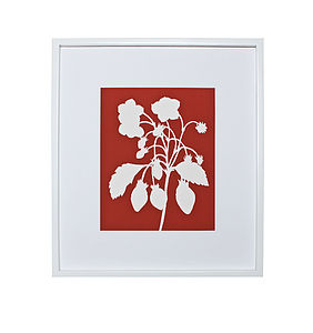 Strawberry Botanical Mounted Fine Art Print