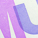 close up of letterpress type