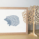 Hedgehog Limited Edition Screen Print
