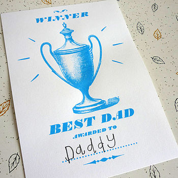 Best Dad Certificate Screenprint
