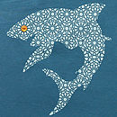 Organic Shark T Shirt On Blue
