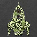Organic Rocket T Shirt On Charcoal Grey