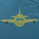 Organic Plane T Shirt On Blue