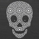 Organic Skull T-Shirt On Charcoal Grey