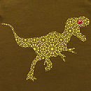 Organic Dinosaur T-Shirt On Olive