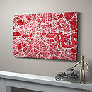 London Street Map Art Print