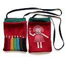 Knitted Lambswool Picture Pencil Bag