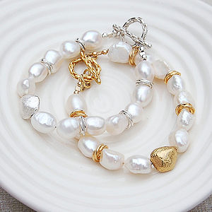 White Baroque Pearl Bracelet - women's jewellery