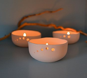 Handmade Ceramic Tea Light Holder