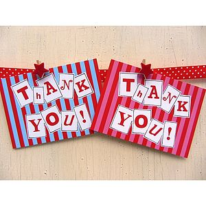 'Thank You' Postcards - thank you cards