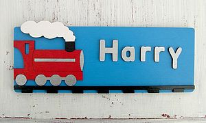 Personalised Train Door Plaque